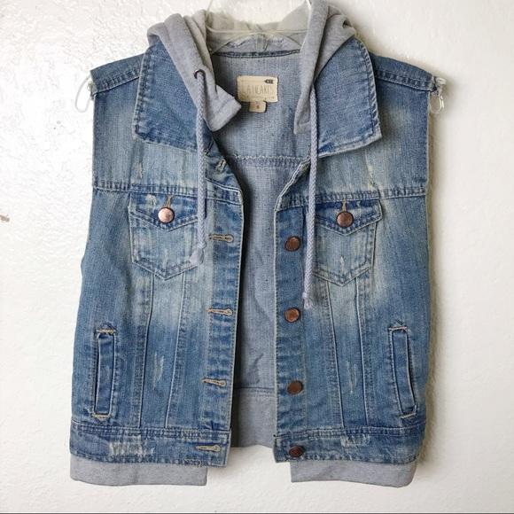 PacSun Jackets & Blazers - PAC Sun LA Hearts Jean Vest